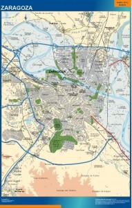 poster mapa Zaragoza accesos