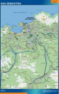 poster mapa san sebastian accesos donostia