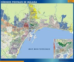 mapa codigos postales malaga