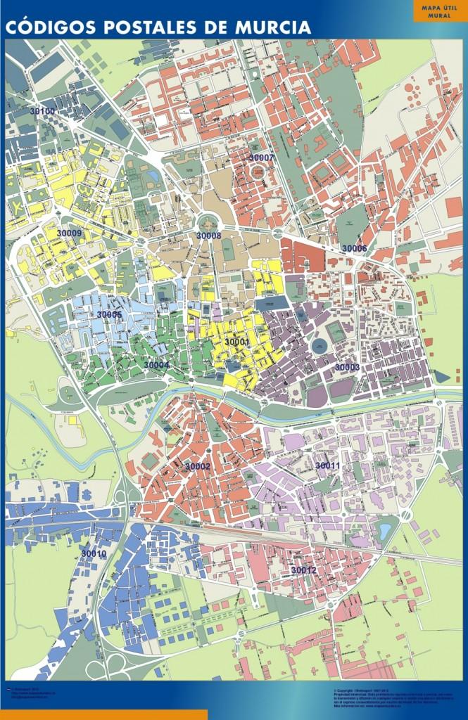 mapa codigos murcia