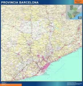 mapa gigante barcelona