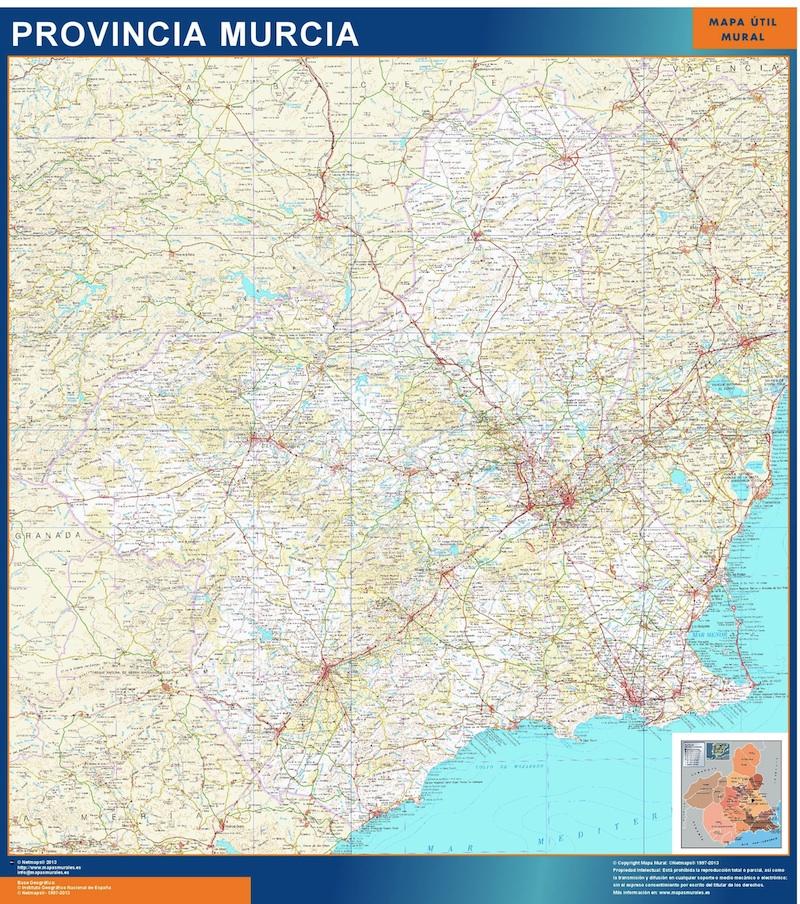 Mapa Región Murcia gigante