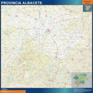 mapa provincia albacete