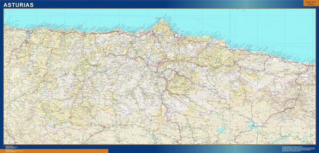 mapa provincia asturias