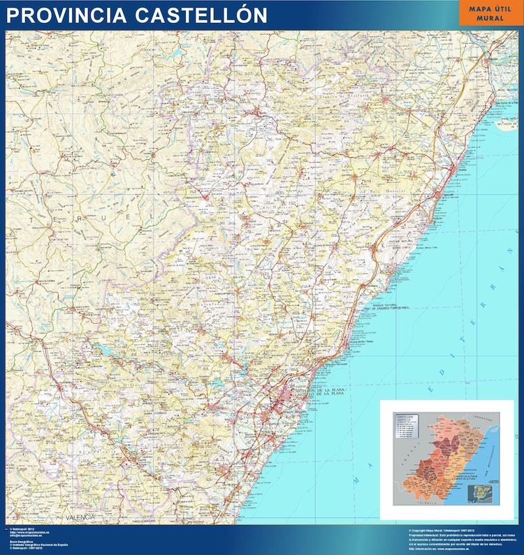 mapa provincia castellon