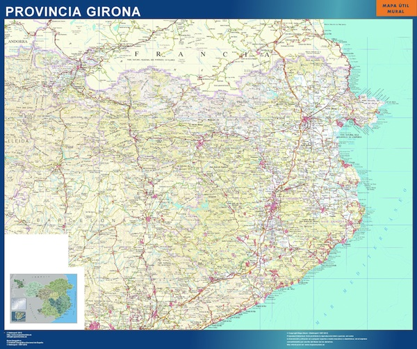 mapa provincia girona
