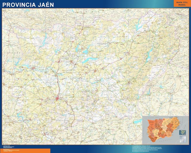 mapa provincia jaen