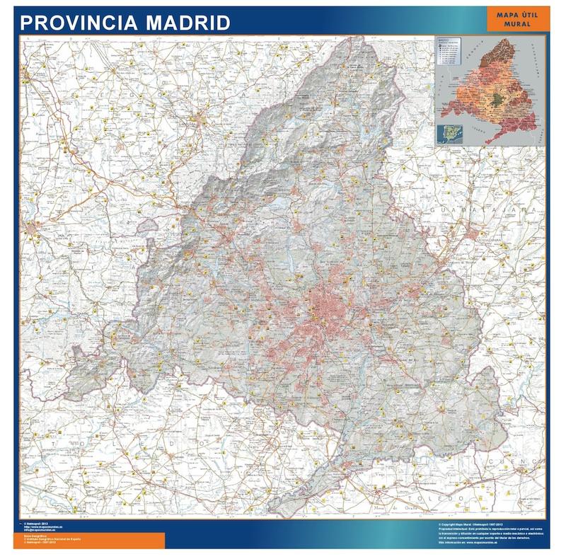 mapa provincia madrid