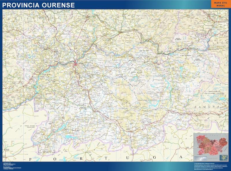 mapa provincia ourense