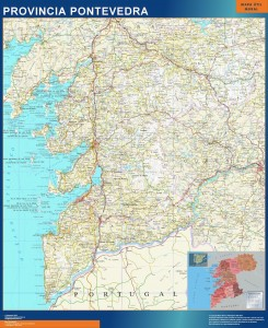mapa provincia pontevedra