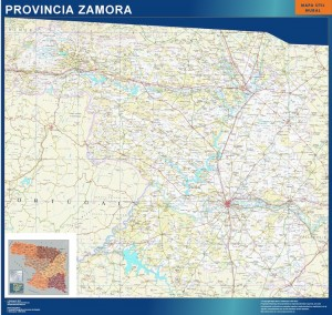 mapa rovincia zamora