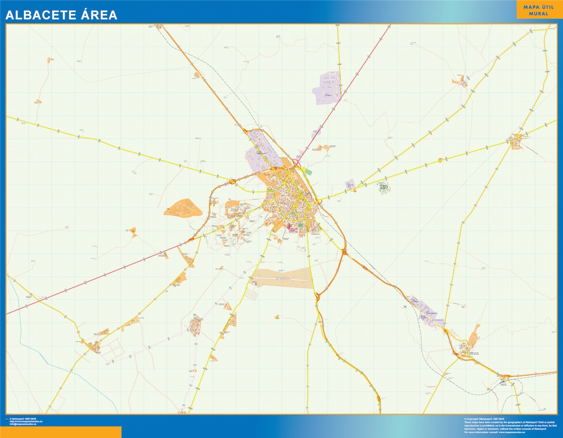 Mapa Gigante Albacete Area