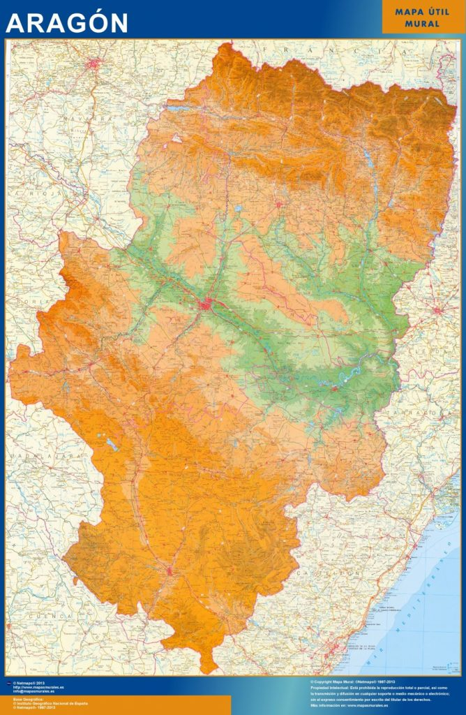 Mapa Gigante Aragon