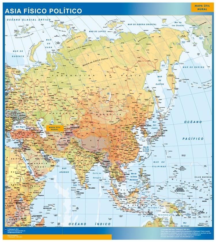 Mapa Gigante Asia