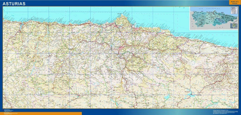 Mapa Gigante Asturias