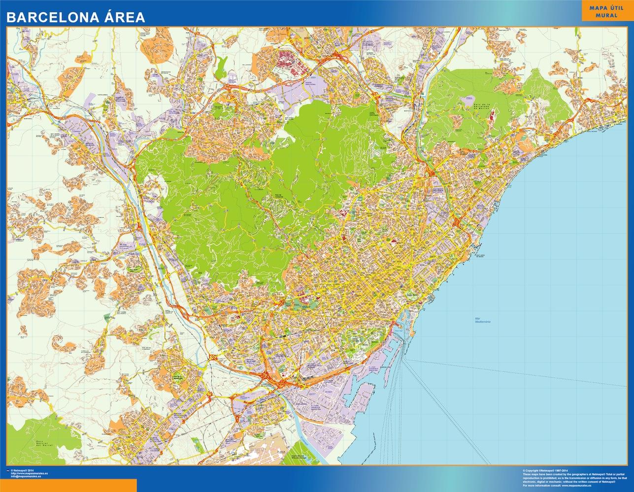 Mapa Gigante Barcelona Area