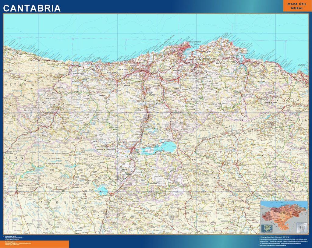 Mapa Gigante Cantabria