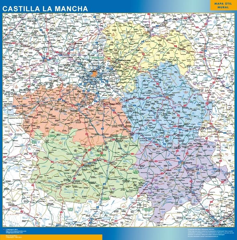 Mapa Gigante Castilla La Mancha