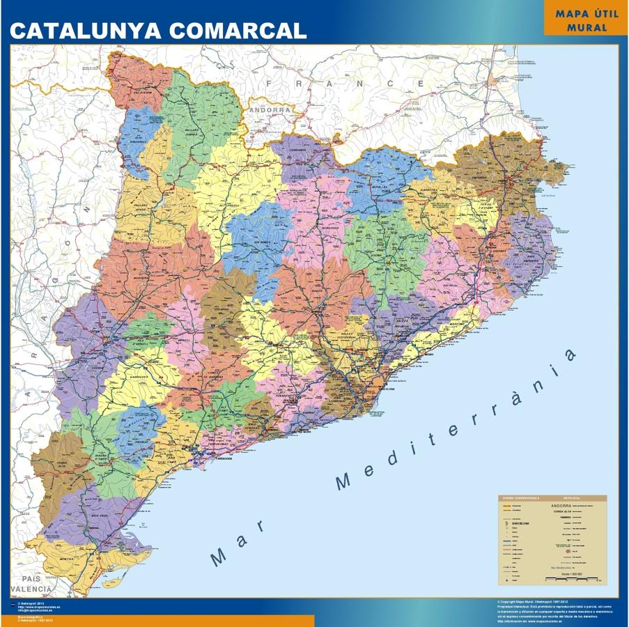 Mapa Cataluña comarcal