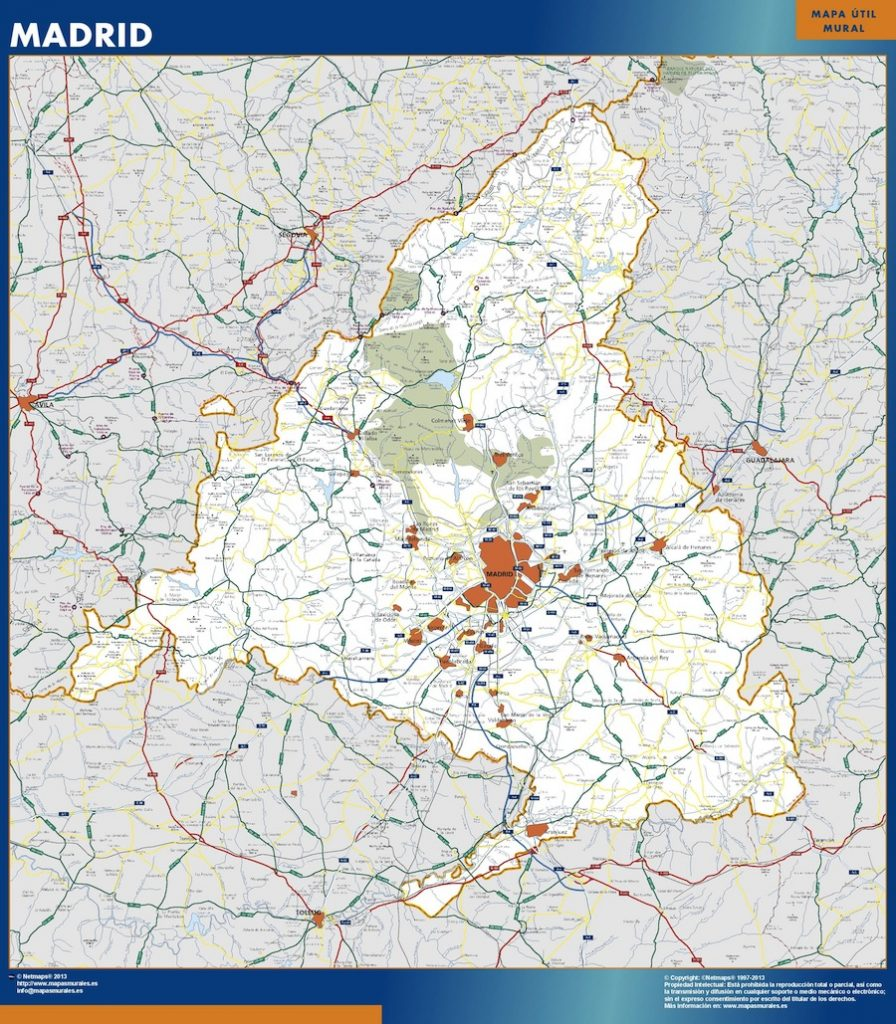 Mapa Gigante Comunidad Madrid