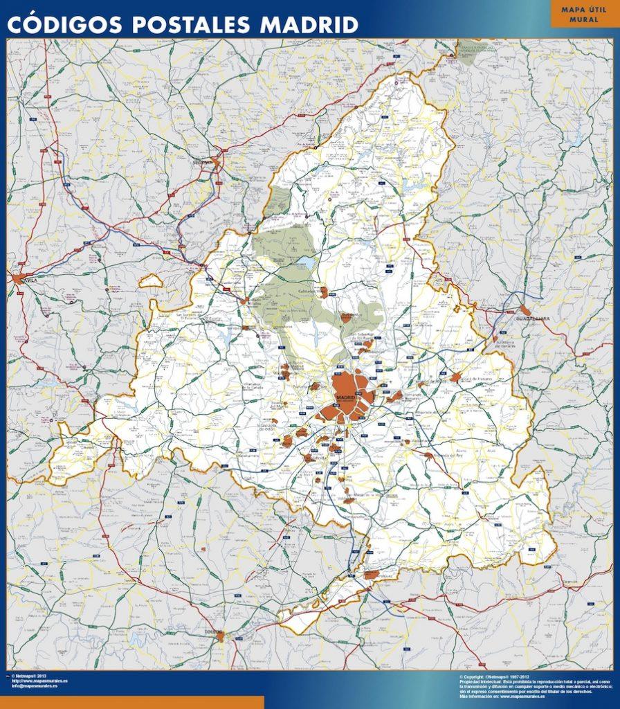 Mapa Gigante Comunidad Madrid Postal