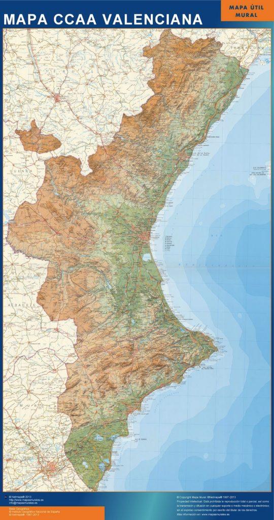 Mapa Gigante Comunidad Valenciana