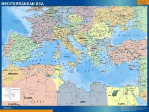 Mapa Gigante Mar Mediterraneo