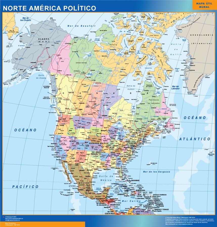 Mapa Gigante Norte America