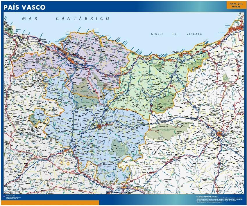 Mapa Gigante Pais Vasco