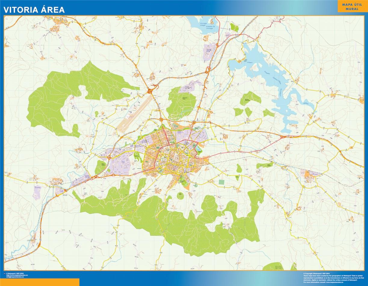 Mapa Gigante Vitoria Area urbano