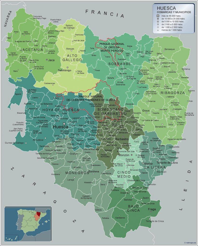 Provincia Huesca Mapas Gigantes De Pared