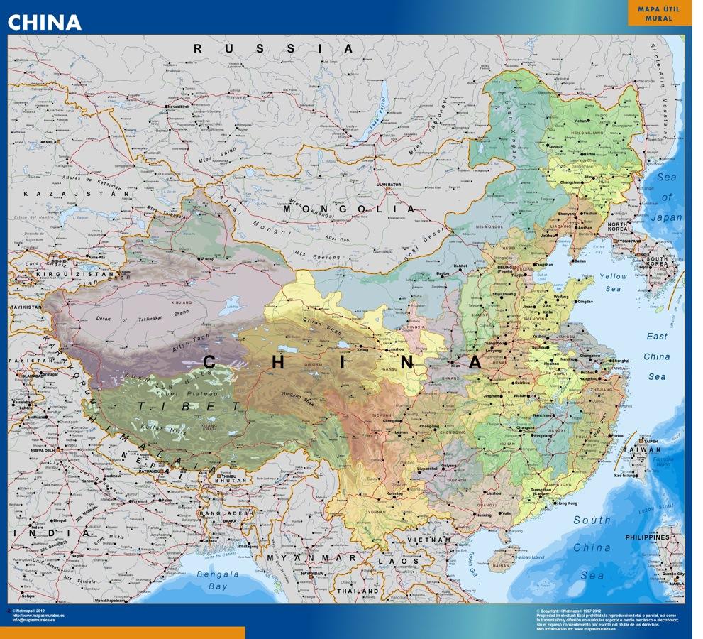 Mapa China politico