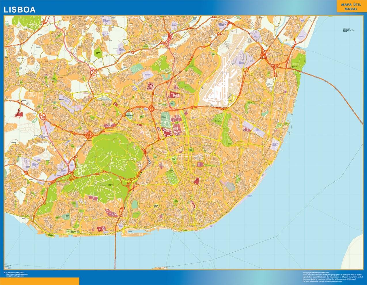 mapa de lisboa online Mapa Lisboa Portugal | Tienda de mapas gigantes de España y el mundo mapa de lisboa online