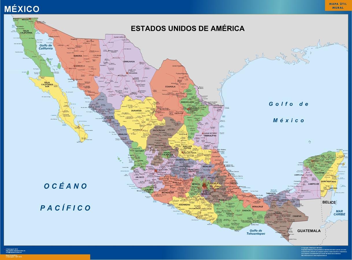 Mapa Mexico Politico gigante