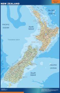 Mapa Nueva Zelanda gigante