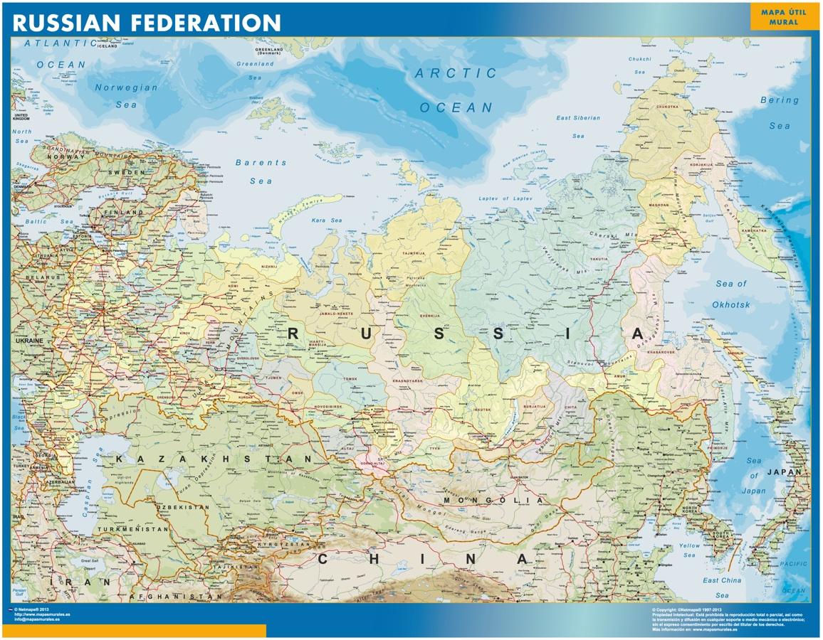 Mapa Rusia gigante