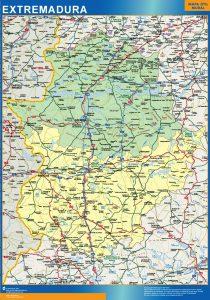 Mapa Comunidad Extremadura